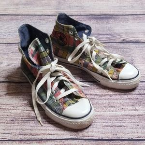 Converse All Star 4 plaid shoes